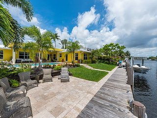 Waterfront 3BR Island Home with Sun Deck, Private Hot Tub & Pool
