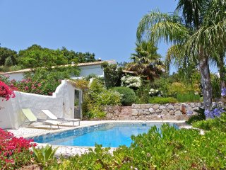 Secluded Monchique house, swimming pool, subtropical garden, amazing sea views.
