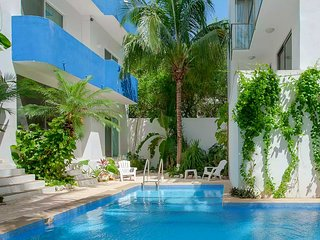 2 BR 2 Bath large condo near beach with huge covered private terrace