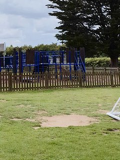 Playground opposit the club house whatch your children play whilst you relax