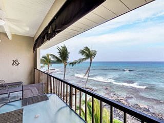 Top Family Pick! Sunset View Lanai, Kitchen, WiFi, Washer/Dryer–Kona Bali Kai