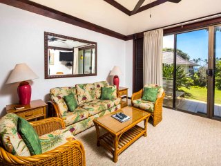 Ground Floor w/New Kitchen+Bath, WiFi, Private Lanai–Kiahuna Plantation #2101