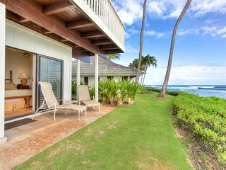 Fit For Royalty! Beachfront w/Open Kitchen, Lanai, WiFi, TV, Ceiling