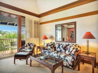 Open Style Suite w/Island Touches, WiFi, Full Kitchen, Lanai–Kiahuna Plantation