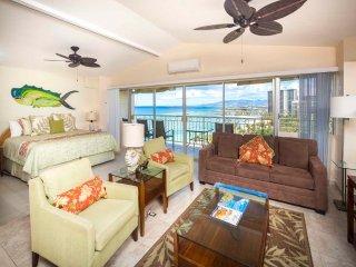 Families Love the View & Fun Decor! Free WiFi, Full Kitchen–Waikiki Shore  #PH05