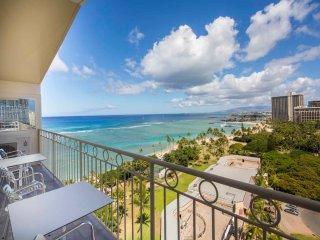 Mega Luxury+Ocean Views! Enjoy Modern Kitchen/Bath, Free WiFi–Waikiki Shore