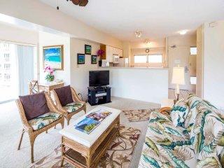 Tropical Family Pick w/Kitchen Ease, Free WiFi, Washer/Dryer–Waikiki Shore #318