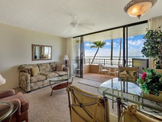 Pure Paradise w/Endless Ocean View! Kitchen, Lanai, WiFi, Flat Screen–Paki Maui