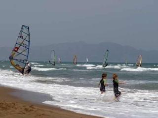 wide range of water sports, windsurfing
