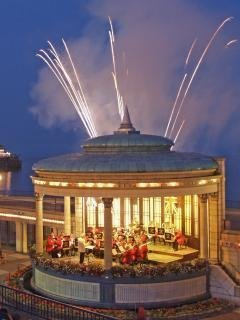 Summer fireworks at the bandstand on the promenade
