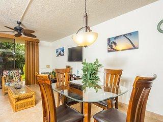 Open Design Suite w/Modern Kitchen, Lanai to Lawn, WiFi–Kamaole Sands 9106