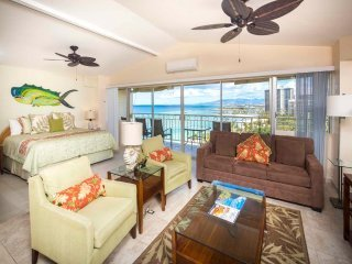 Families Love the View & Fun Decor! Free WiFi, Full Kitchen–Waikiki Shore  #PH05