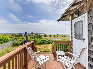 Waterfront West Yarmouth Cottage w/ Deck & Views!