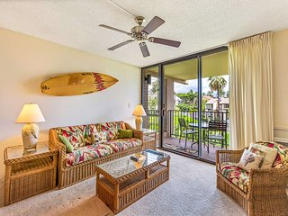 Fun island vibe! Private lanai, Full Kitchen, Flat Screen TV, Air Conditioning