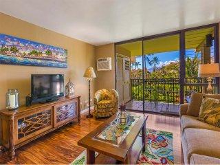 Airy, Open Suite w/Kitchen+Bath Upgrades, Lanai, WiFi, AC–Kamaole Sands 6306