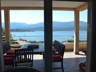 Stunning villa in porto vecchio, south corsica, w garden & sea view, sleeps 8