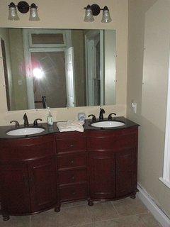 Double vanity in Bathroom upstairs
