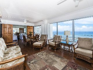 Rarely Available Sweeping Ocean View 2BR Ilikai Condo with Tons of Amenities!