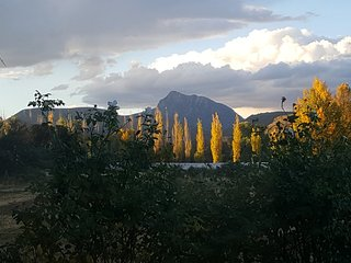 Stunning views of  Compassberg mountain from the property. Take photo's like this one.