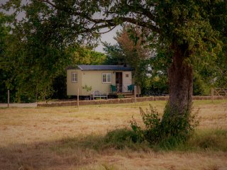 abberton shepherds hut retreat  on a working farm private location lovely views