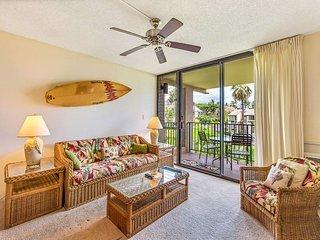 Fun island vibe! Private lanai, Full Kitchen, Flat Screen TV, Air Conditioning