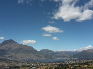 Beautiful house in  Otavalo/ Ecuador,  with a magnificent view of San Pablo Lake