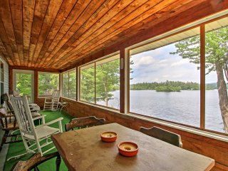 The home features a screened-in porch, where you can enjoy your meals with a view.