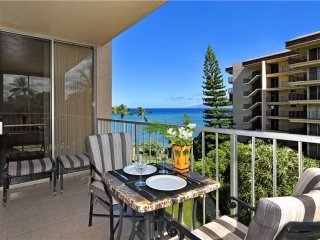 This ocean front property offers air conditioned comfort Royal Kahana #501