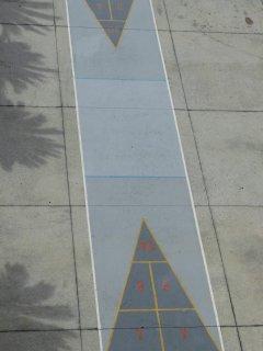 On-site shuffle board