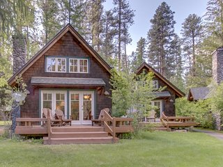 Experience the wilderness at this deluxe riverfront cabin on the Metolius River