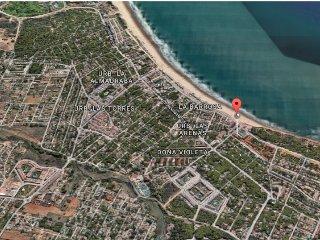 Situación de la urbanización en la vista aérea de la zona