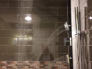 3 spa shower head with 12' raining shower head