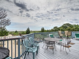 Beachfront Slaughter Beach Chalet w/ Large Deck!