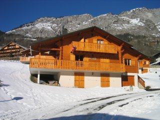 Savoyard Chalet in the Mountains. Part of the Porte de Soleil
