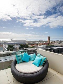 Views across Green Point towards Cape Town Stadium