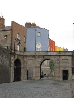 Dublin Castle entrance/ Ship St.Little