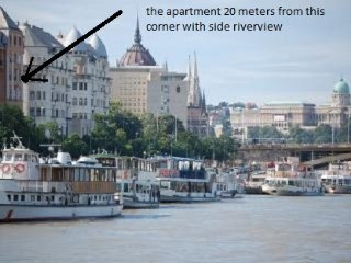 Danube riverview apartment , WIFI & AC ,20 meters from Danube , free minibar