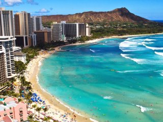 Take a load off at gorgeous Waikiki Beach!