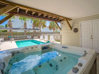 The high tech hot tub has multiple massage jets to help you relax.