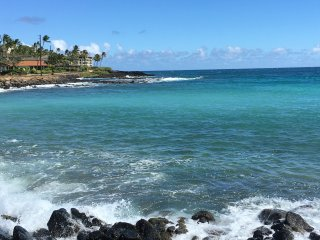Beautiful Brennecke's Beach in Sunny Poipu.  Stay in our home and experience the beauty