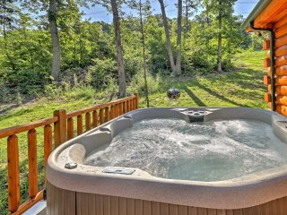 NEW! Charming 3BR Mt Jackson Log Cabin w/ Hot Tub!