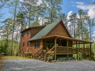 UP THE CREEK- 2BR/2BA, LUXURY LOG CABIN WITH STUNNING MOUNTAIN VIEWS, CREEK