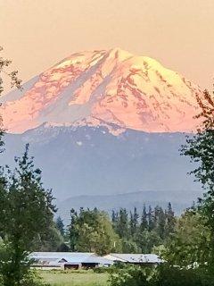 Mt Rainier at Sunset