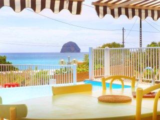 Grande villa avec piscine, vue sur mer et le rocher du Diamant à 50 m de la mer.