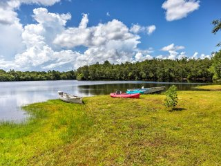 1BR Waynesville Cabin w/ Pool & Private Lakes!