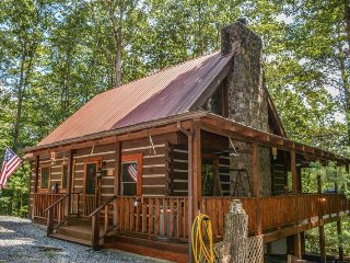 DEW DROP INN- ADORABLE 2BR/2BA CABIN! SLEEPS 5, SAT TV, HOT TUB, WIFI, PET