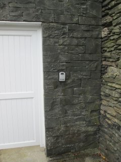 Master key safe location at Lakeland Lodge by Lake Windermere in Windermere in  the Lake District.