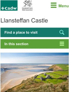 Llansteffan Castle and Estuary just 9 miles away