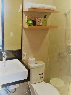 bathroom with bidet and heater