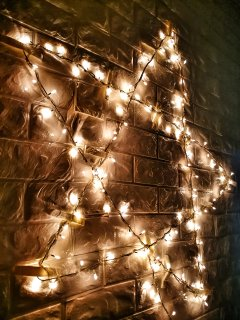 Special lighting effect, enjoy your magical night in the holiday home